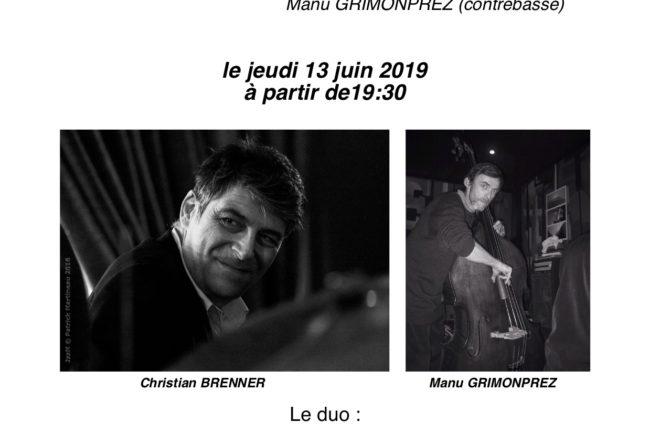 Christian BRENNER Duo avec Manu GRIMONPREZ @ Le G Rouge