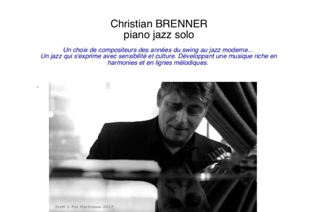 Christian BRENNER piano jazz solo @ Le G Rouge